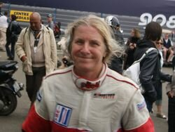 Granny Andrea on Le Mans 24 Hours GTE AM podium
